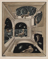 M.C.Escher  Altro Mondo  1947  Xilografia   31,8 x 26,1 cm   Collezione Gemeentemuseum Den Haag   All M.C. Escher works © the M.C. Escher   Company B.V.-Baarn- the Netherlands