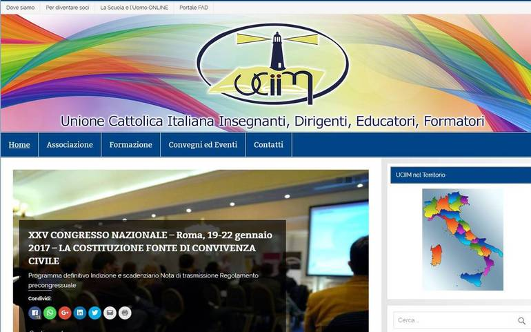 L'home page dell'Uciim