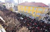 Proteste studentesche in Albania (Foto Sir)