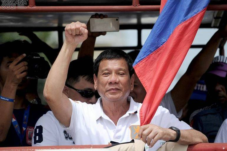 Il neo eletto presidente filippino Duterte (Foto Sir)
