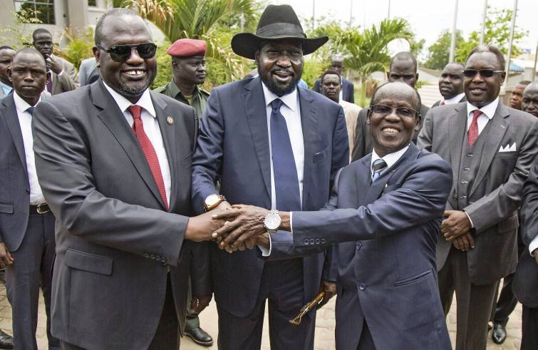 Accordo tra Riek Machar e Salva Kiir in Sud Sudan (Foto Sir)