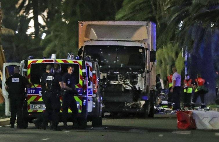 La zona dell'attentato a Nizza (Foto Sir)