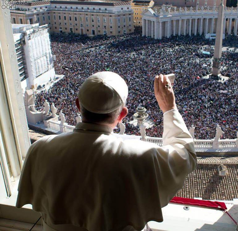 Papa Francesco all'Angelus (Foto Sir)