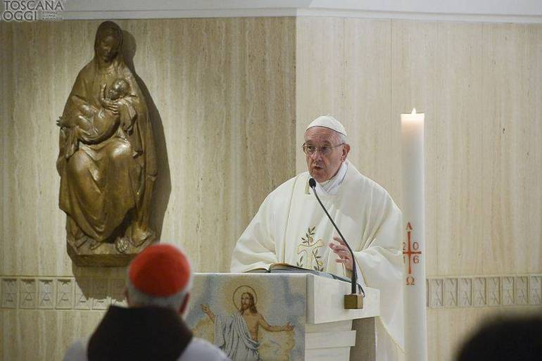 Papa Francesco Messa a Santa Marta (Foto Sir)