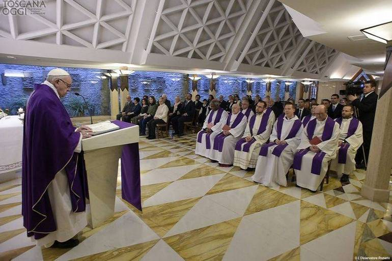Papa Francesco, Messa a Santa Marta (Foto Sir)
