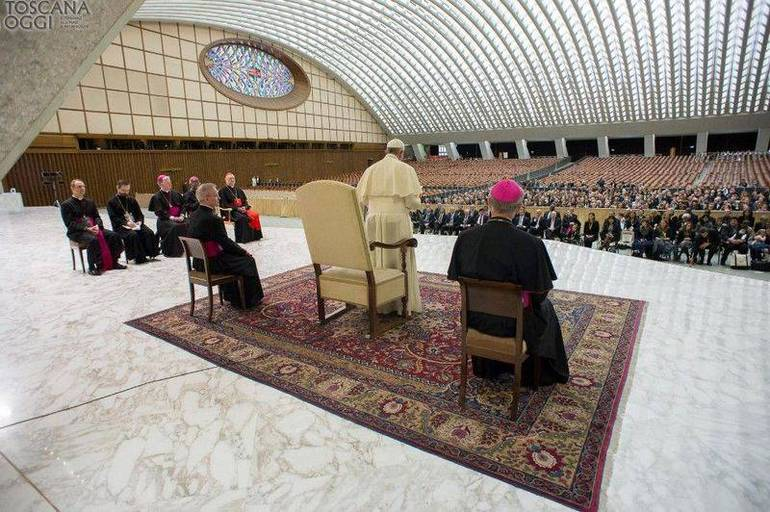 Papa Francesco, udienza nell'Aula Paolo VI (Foto Sir)