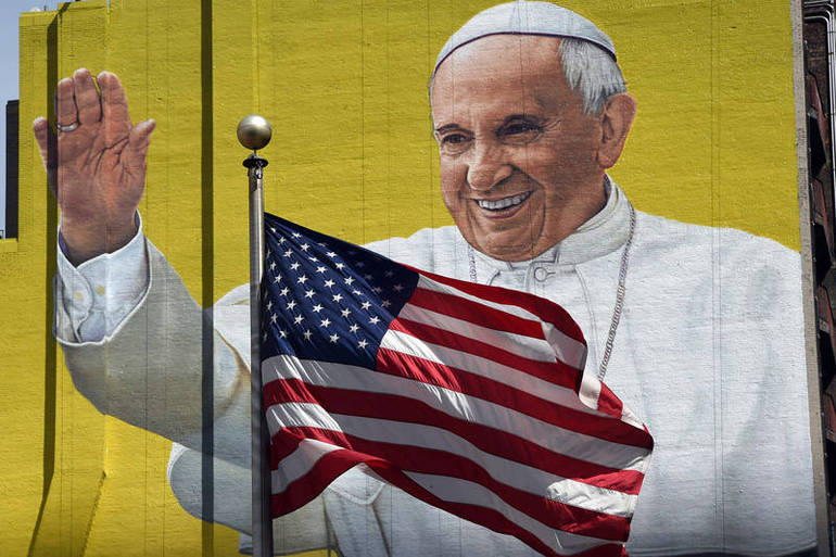 Murales con il Papa in Usa (Foto Sir)