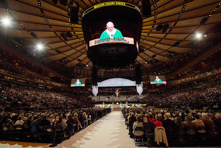 La Messa del Papa al Madison Square Garden