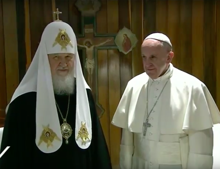 Kirill e Papa Francesco
