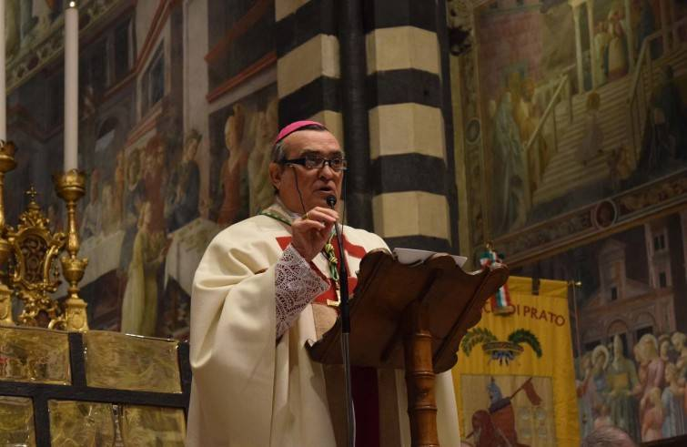 Mons. Franco Agostinelli durante il pontificale (Foto Sir)